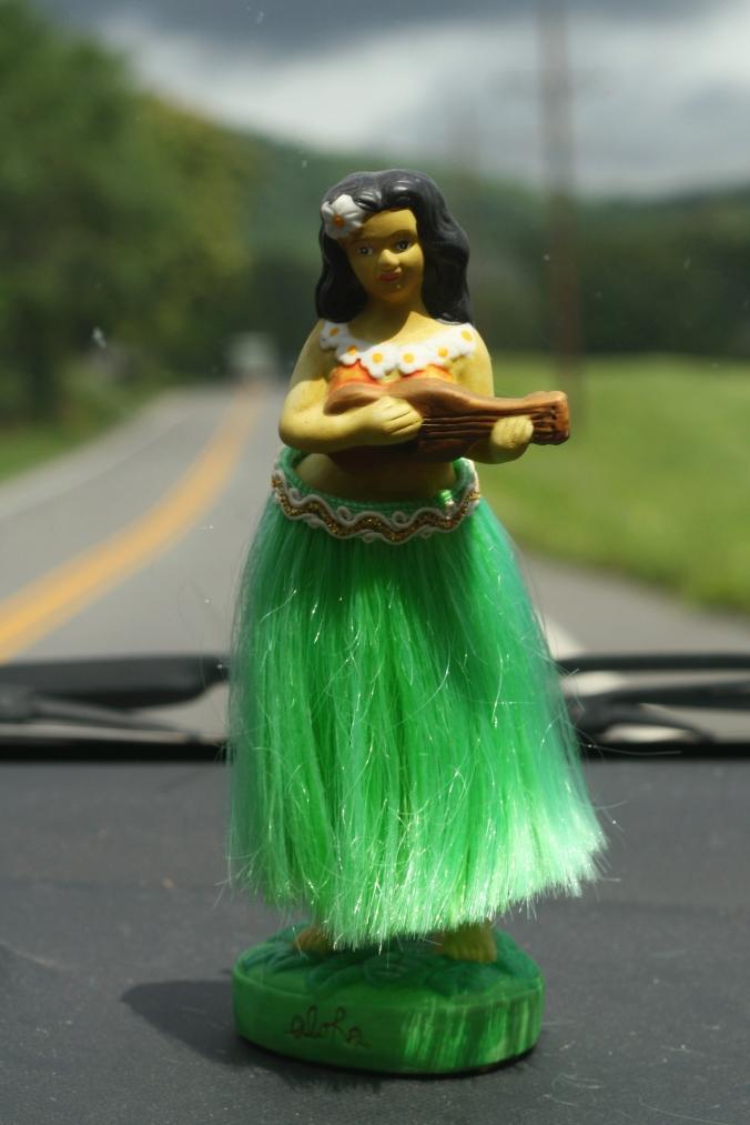 hula girl bobble head
