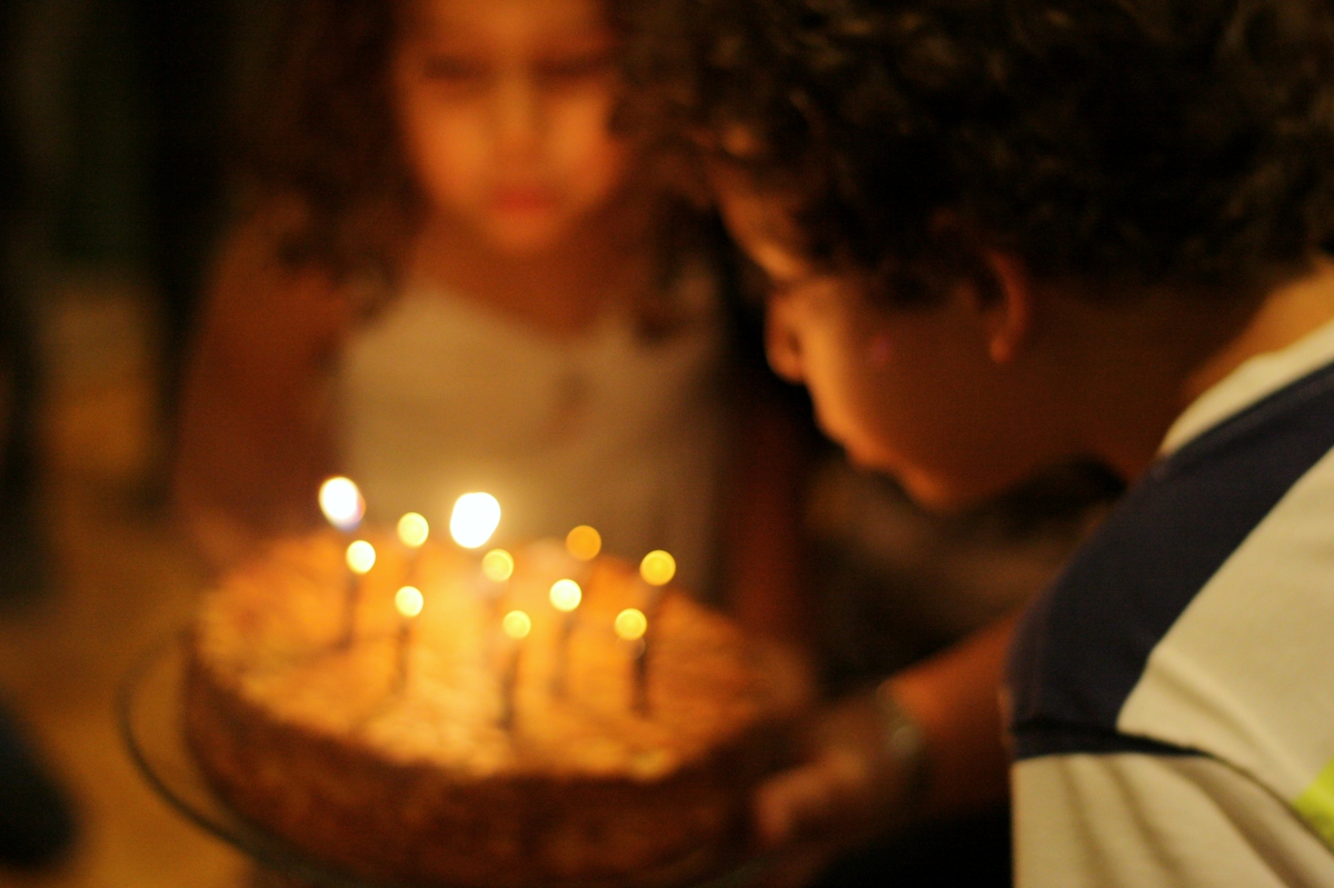 blowing out candles blur