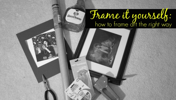 custom picture framing tutorial diy