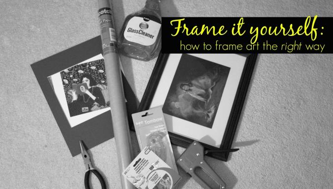 custom picture framing tutorial diy
