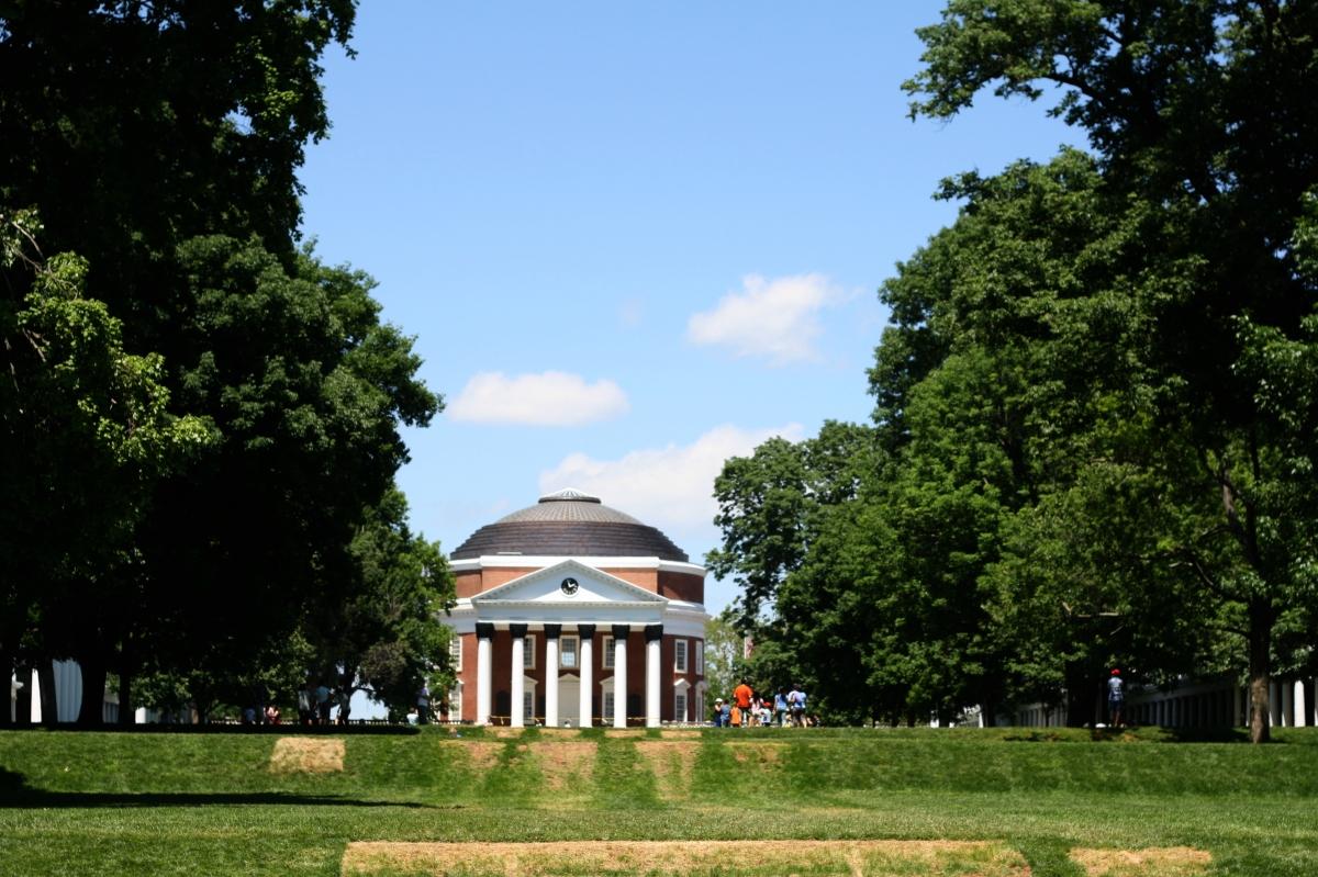 rotunda and lawn at uva